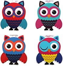 Heartzy Cute Owl Magnetic Bookmark Combo Of 4 Bookmarks Gift For Kids Gift For Girls