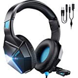 Mpow EG10 Auriculares Gaming para PS4, PC, Xbox One, Switch, Mac, Cascos da 3,5 mm Jack con Micrófono Cancelación de Ruido, L