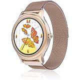 Fashion smartwatch voor dames, BlitzWolf IP68 Volledig Touchscreen Sporthorloge Intelligent met Hartslagmeter Slaapmonitor SM