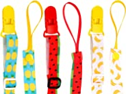 3 Pack Pacifier Clip Adjustable Universal Binky Holder Leash for Boy Girl fits All Baby Teether Teething Toys or Soothie Gif