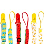 3 Pack Pacifier Clip Adjustable Universal Binky Holder Leash for Boy Girl fits All Baby Teether Teething Toys or Soothie...