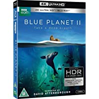 Blue Planet II (Uncut) [4K Ultra HD + Blu-ray] (2017) | Includes Slipcover | 6 Discs (3 4K + 3 BD) | Imported from UK | BBC | 360 min | Documentary | Narrator: David Attenborough