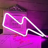 QiaoFei Neonlicht, LED Lightning Sign geformt Dekor Licht, Wand-Dekor für Weihnachten, Geburtstagsfeier, Kinderzimmer, Wohnzi
