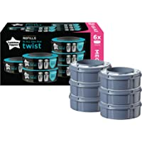 Tommee Tippee Twist and Click Advanced Nappy Disposal Sangenic Tec Refills, Pack of 6 (Compatible with Sangenic Tec…