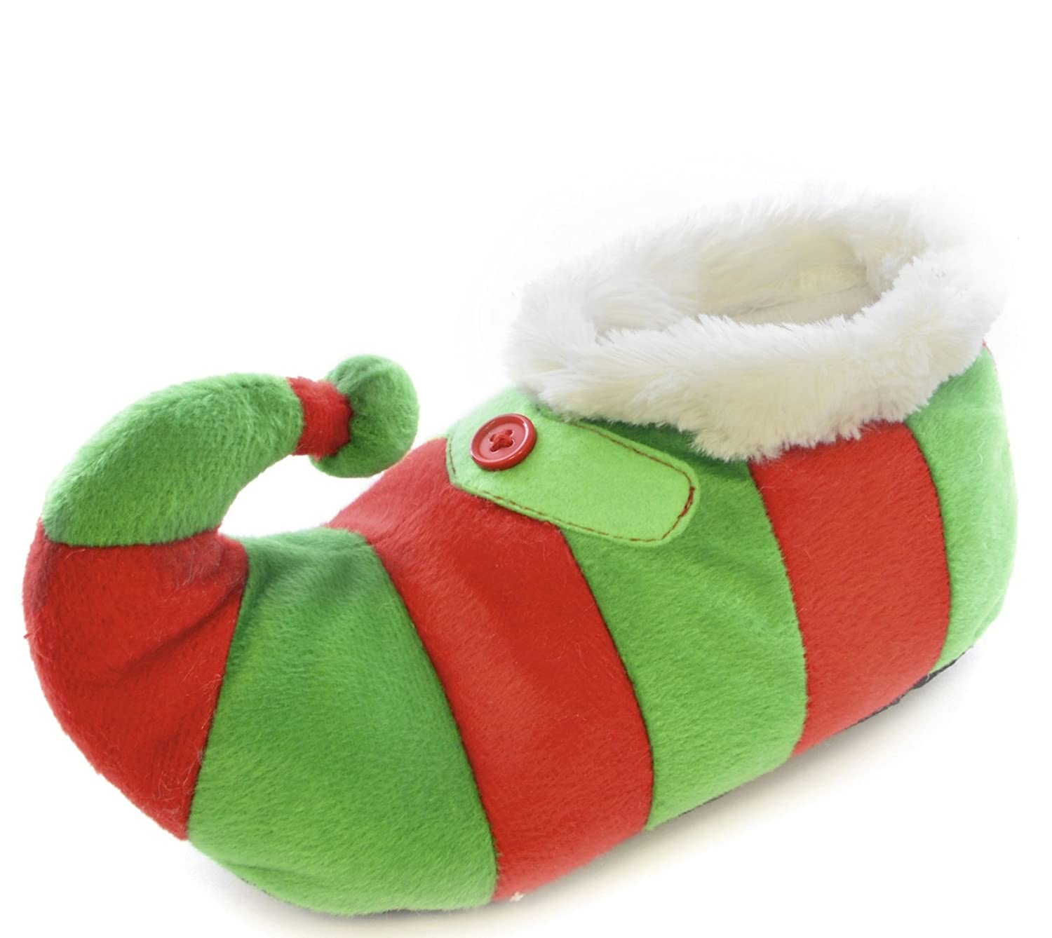 Boys Girls Kids SlumberzzZ 3D Xmas Elf Pixie Novelty Boot Slippers ...