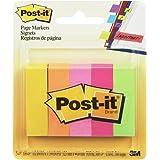Post-it Index Segnapagina in Carta, Foglietti Adesivi Colorati, 5 Blocchetti da 100 Foglietti Adesivi, 500 Linguette Adesive,