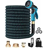 Trongle Expandable Garden Hose Pipe, 150FT/45M Pipe with 10 Function Spray Gun Nozzle Brass Fittings Wall Hanger Storage Bag,