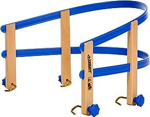 Davos Holzschlitten 100cm Rodel Holz massiv Schlitten Rodelschlitten Schlittenlehne