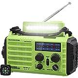 Noodgeval NOAA/AM/FM/SW Radio, Zonne/Handslinger/2000mAh Li-ion Batterij Powerbank/Micro USB/USB-oplaadpoort/Leeslamp, SOS-Al