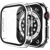 LK Compatible con Apple Watch Series 6 Series 5 Series 4 SE 40mm Protector de Pantalla,2 Pack,PC Funda, Cristal Vidrio Templa