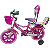 Global Bikes Barbie 14T (Pink) Kids Bicycle for 2 to 5 Years Fully Adjustable with Back Seat and Back Support for Boys and Girls (14T,Pink)