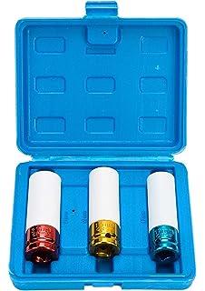 15-17-19-21-22 mm FreeTec Set di 5 chiavi a bussola con attacco 1//2