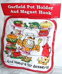 Garfield The Cat Pot Holder With Garfield Magnet Hook Amazon Co Uk Kitchen Home