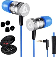 KLIM Fusion Earbuds with Mic Audio - Long-Lasting Wired Ear Buds + 5 Years Warranty - Innovative: in-Ear with Memory Foam Ear