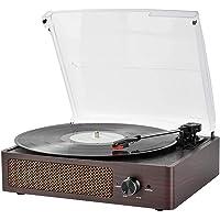 Vinyl Plattenspieler, Bluetooth tragbaren Vinyl Plattenspieler Schallplattenspieler mit 3-Gang 33/45/78 U / min und…