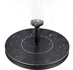 Elegant BHY Solar Springbrunnen, Solar Teichpumpe Brunnen Mit 1.5 W Schwimmende  Solarpumpe Fontäne Pumpe Als Dekoration