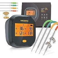 Inkbird IBBQ-4T Thermomètre Cuisson WiFi Thermometre Four Thermomètre Barbecue avec 4 Sonde Temperature Cuisine…