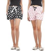 NITE FLITE Women Cotton Shorts | Pack of 2