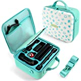 Switch Travel Carrying Case, Animal Crossing design, Deluxe Protective Hard Shell Carry Bag Fits Pro Controller for Switch Co