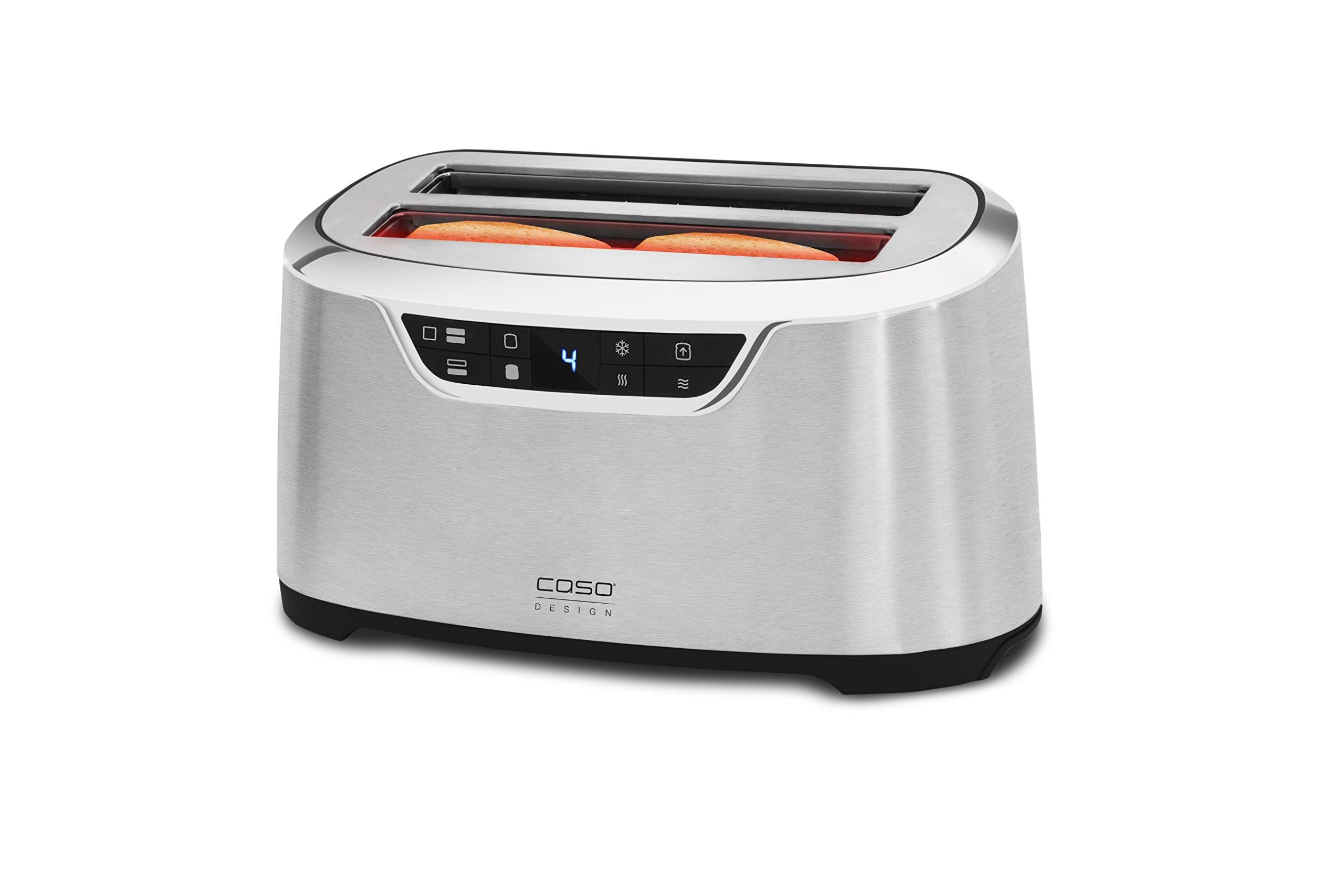 CASO-NOVEA-T4-Design-Toaster-fr-4-Scheiben-mit-Motorlift-9-Brunungsstufen-inkl-Brtchenaufsatz