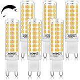 Ampoule G9 Led Dimmable Wowatt 6W 570lm, Lumière Blanche Chaude, 2800 K Équivalent à 50W d'Halogène Ecellent Ra 83 Angle De F