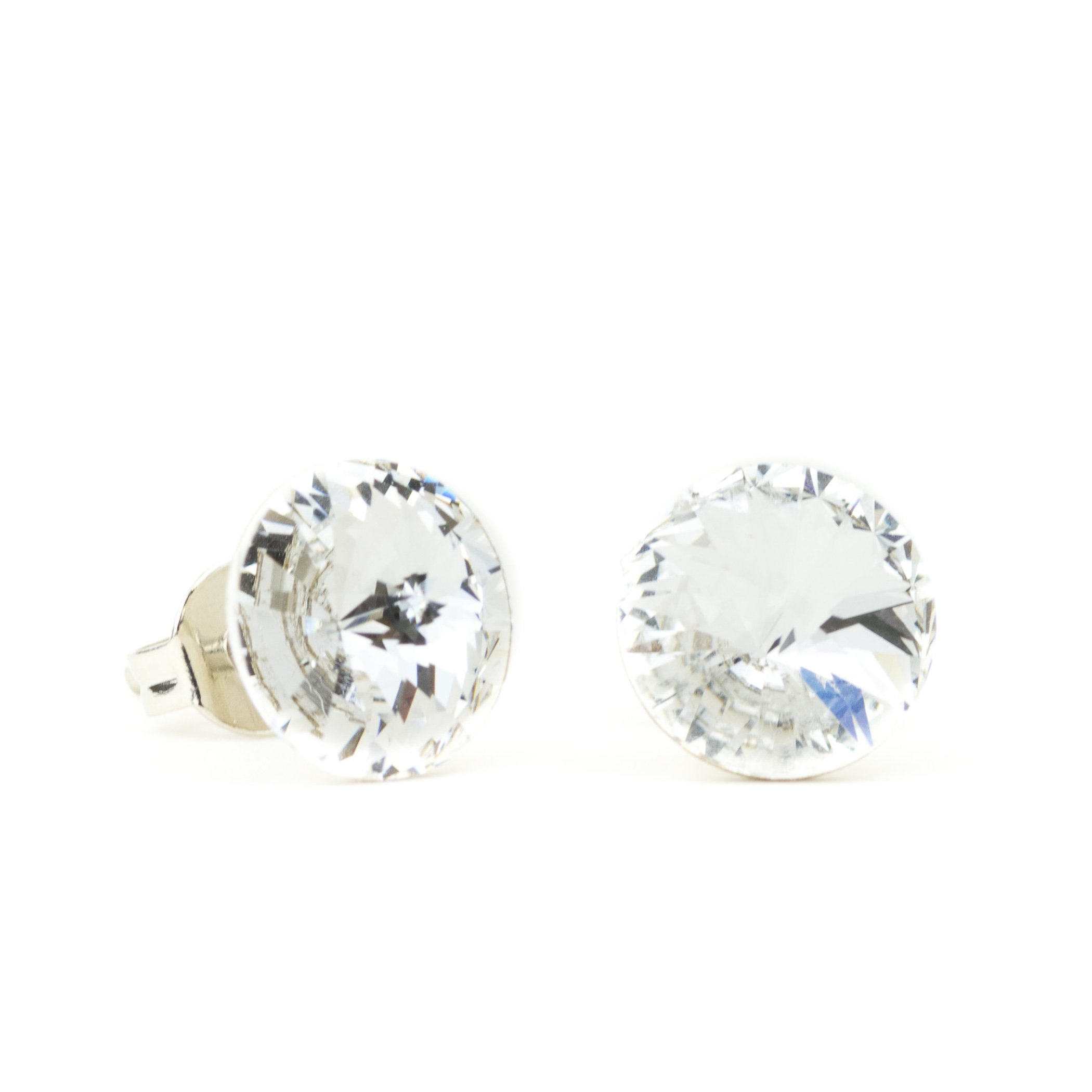 Eve S jewelry���Orecchini da donna con Swarovski Elements Crystal Argentato rodiato bianco taglio ro