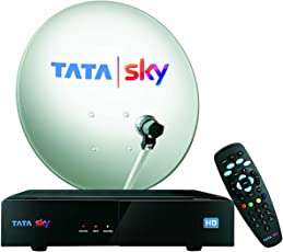 TATASKY HD Box Inclusive 3 Months Dhamaka Pack and HD Access (Black, TSK44)