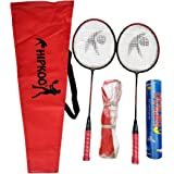 Hipkoo Sports HXBRSET_RDXSCOCKXNET Aluminum Full Badminton Kit (2 Racket, Pack of 10 Shuttlecocks and Net) Badminton Kit…