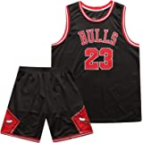 Uniforme de Baloncesto de los Hombres, Chicago Bulls # 23 Camiseta de Manga Corta de Michael Jordan para Adultos (Top + Panta