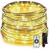 HAUSPROFI 15M 200 LEDS lichtslang met afstandsbediening, lichtketting, 8 modi en helderheid dimbaar, aangedreven, waterdicht,