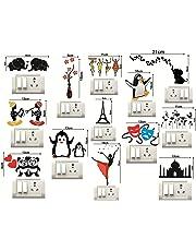 Sticker Studio Flower and Butterfly Switch Board Sticker (Set of 13)