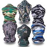 Ecombos 6 unidades, Bandanas multifunción sin costuras, braga de cuello, pañuelo de microfibra, tubo, máscara, diadema