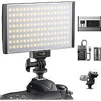 ESDDI LED Video Luce, dimmbar, 3200-5600K einstellbar, CRI 95+, inkl. Akku und Ladegerät,…
