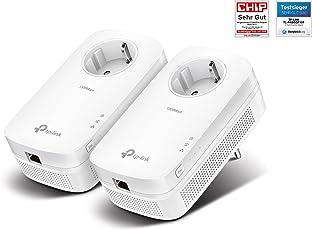 TP-Link TL-PA8010P-KIT Powerline Adapter Set (1300Mbit/s über Powerline, Steckdose, 2 Gigabit Port, energiesparend, ideal für IPTV, kompatibel zu allen gängigen Powerline Adaptern, Plug und Play) weiß