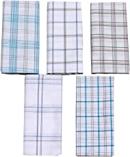 Mandhania Men's 100% Cotton Lungi Assorted Color and Checks Pack of 5 (2 Mtr.)