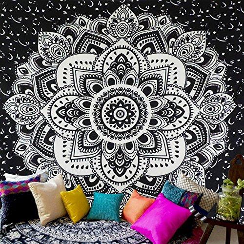 handfly indio Mandala Tapestry, india Hippie tapiz, colgar en la pared, tapiz colgar en la pared, nueva Era Glorafilia, Mandala bohemio (Single (150x 150cm)), Style-5, 150*150cm