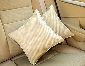 Auto Pearl Car Cushion Kit (Set of 2, Beige)