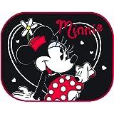 Disney 25312 Coppia Tendine Parasole Laterali universali 44x35cm, Minnie Sfondo Nero