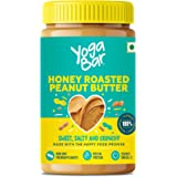 Yogabar Honey Roasted Peanut Butter 400g | Sweet, Salty and Crunchy | Non GMO Peanut Butter | Omega 3 | Rich in Protein - 400