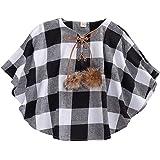 Chaleco de invierno para niñas pequeñas y niñas, chaqueta de cuadros de búfalo, chaqueta acolchada