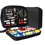 LifeMaster Travel Sewing Repair KIT, Set w/Over 100 Supplies & 24-Color Threads & Needles   Compact, Portable Mini...