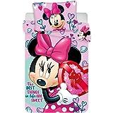 Disney - Juego de Ropa de Cama para bebé (100/135 + 40/60), diseño de Minnie Mouse