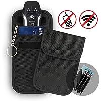 2 x Keyless Go Schutz Autoschlüssel + 3X RFID Blocker Schutzhüllen für Kreditkarten, Verhindern Sie den Diebstahl Ihres Autos, Autoschlüssel Hülle RFID/NFC/WLAN/GSM/LTE Blocker