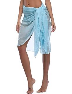Cellicigal Donna Beach Sarong Holiday Cover Up Costume da bagno Wrap Chiffon Beachwear Pareo Estivo Spiaggia Vestito Gonna