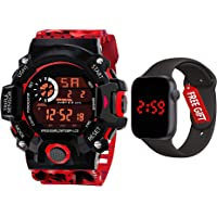 Acnos Brand - A Digital Watch with FRE Square LED Shockproof Multi-Functional Automatic 5 Color Army Strap Waterproof…