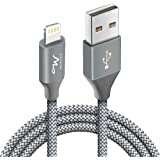 Wayona Nylon Braided WN3LG1 USB Syncing and Charging Cable sync and Charging Cable for iPhone, Ipad, (3 FT Pack of 1, Grey)
