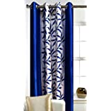 Srk Trendz Polyresin Abstract Window Curtain ( 5 Feet, Blue )