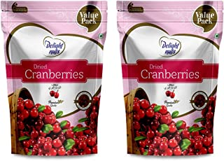 Delight Nuts Dried Cranberries -750gm Value Pack (Pack of 2)