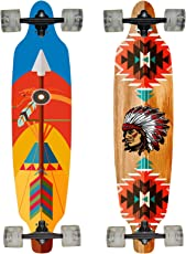 Hansson.Sports Top Longboard Komplett Skateboard Long Board 99cm (39 inch). 2 Motive zur Wahl