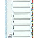 Esselte Intercalaires A4 31, Touches et Bande Perforée Renforcées en Mylar, Carton Résistant, Bleu, 31 Onglets avec Table des